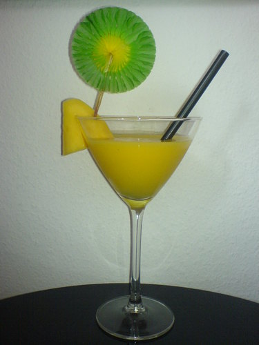 Frozen Flaming Mango Daiquiri
